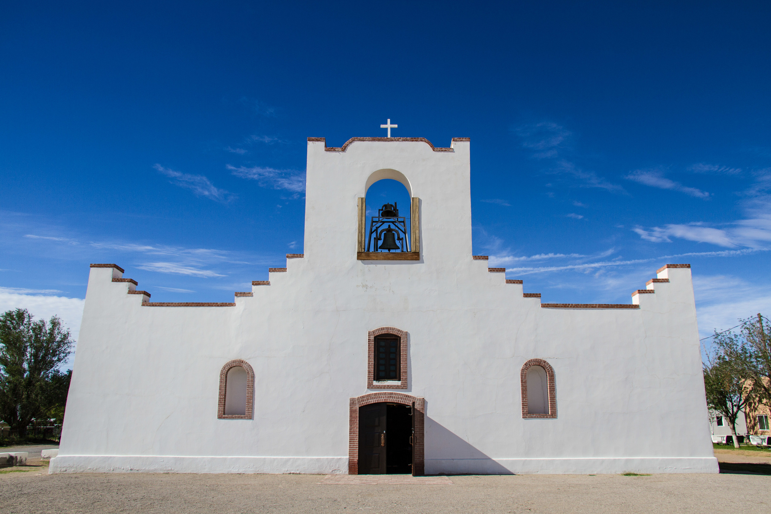 The Socorro Mission along the famous Mission Trail just south of El Paso is one of three mission churches open for visitors to explore the rich history and life in the early 1600's.