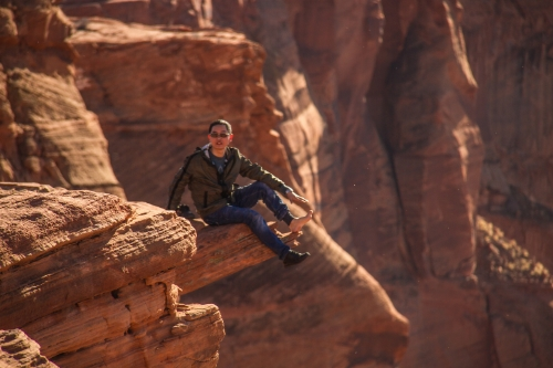 One of the tourists at Horseshoe Bend in Page, Arizona who I ended up running into a few days later in Utah.