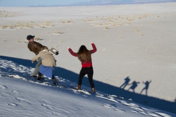 Cave Art at White Sands National Monument