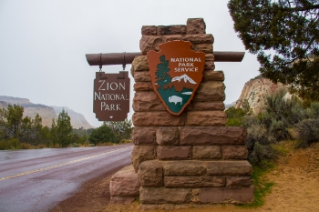 The East Entrance into Zion along Zion-Mount Carmel Highway takes visitors meandering through the park to the valley's floor.