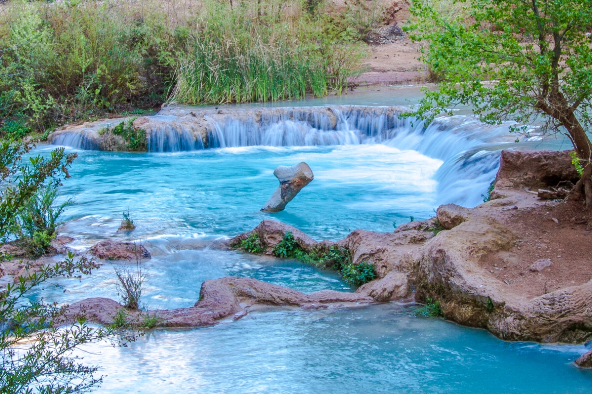 One of the pools of Havasu Falls