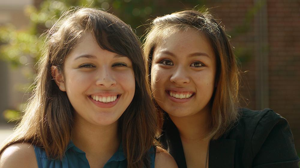 Brenda (right) with fellow 2013 Empowerment Scholar Noemi