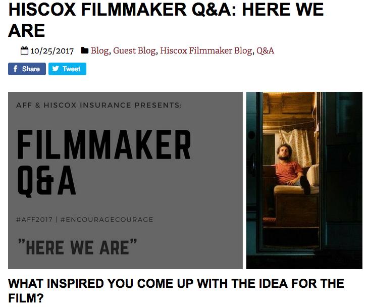 Filmmaker Q&A for 2017 Austin Film Festival