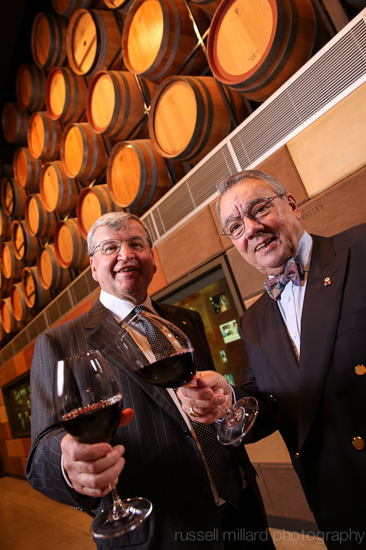 Wine Makers  Tony D'Aloisio and Wolf Blass.