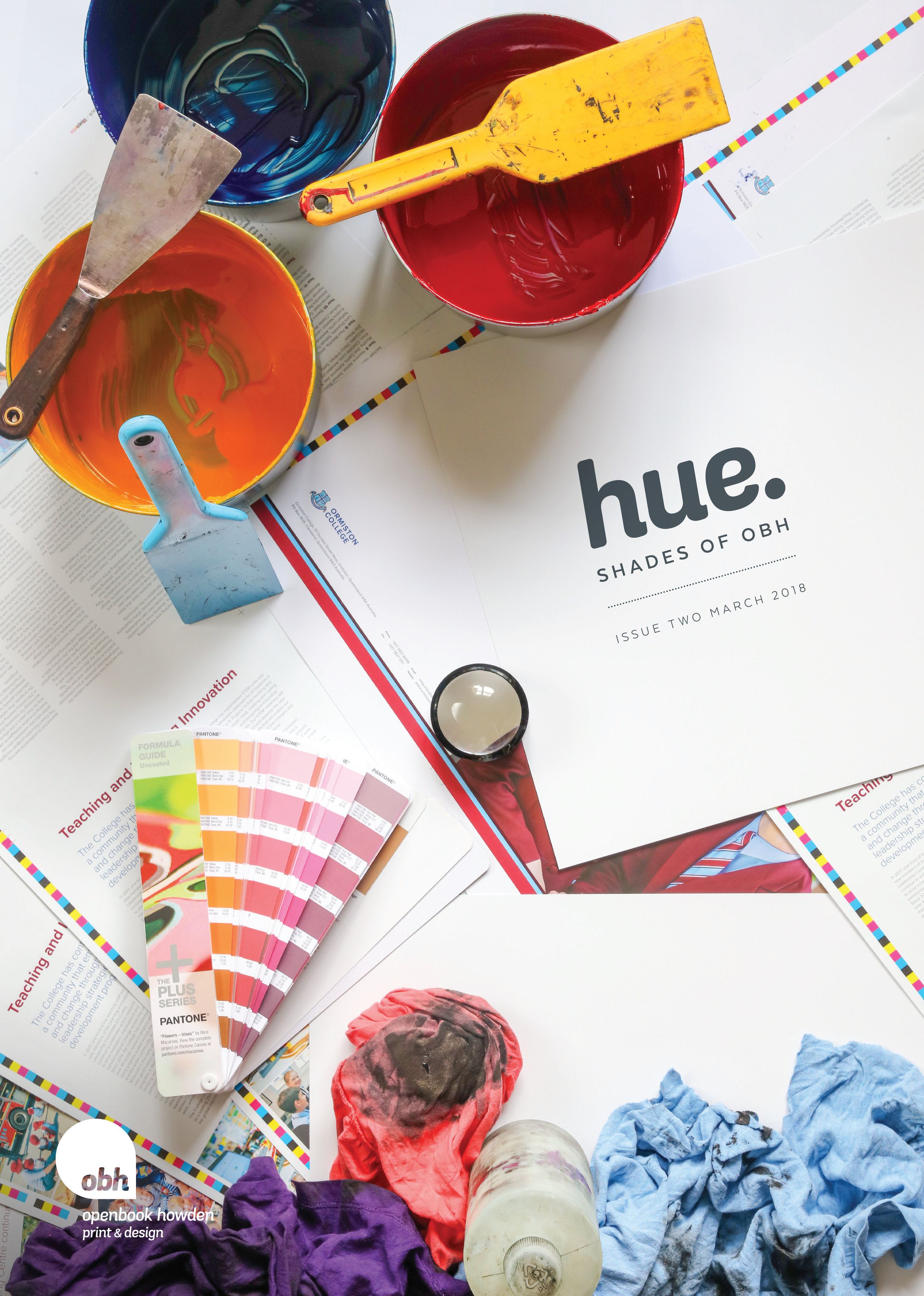 Openbook Howden's Hue magazine cover.