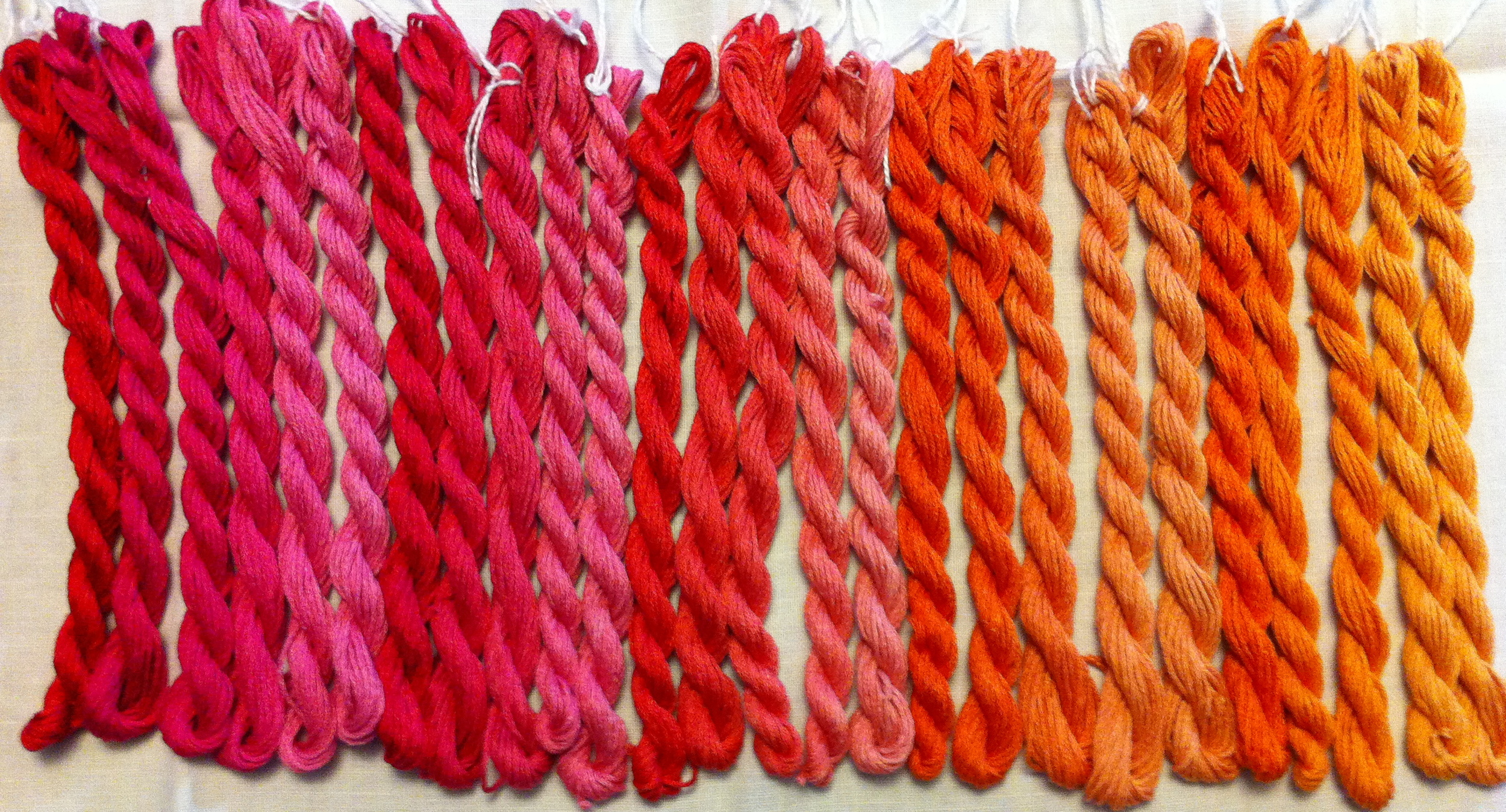Pretty skeins all in a row.