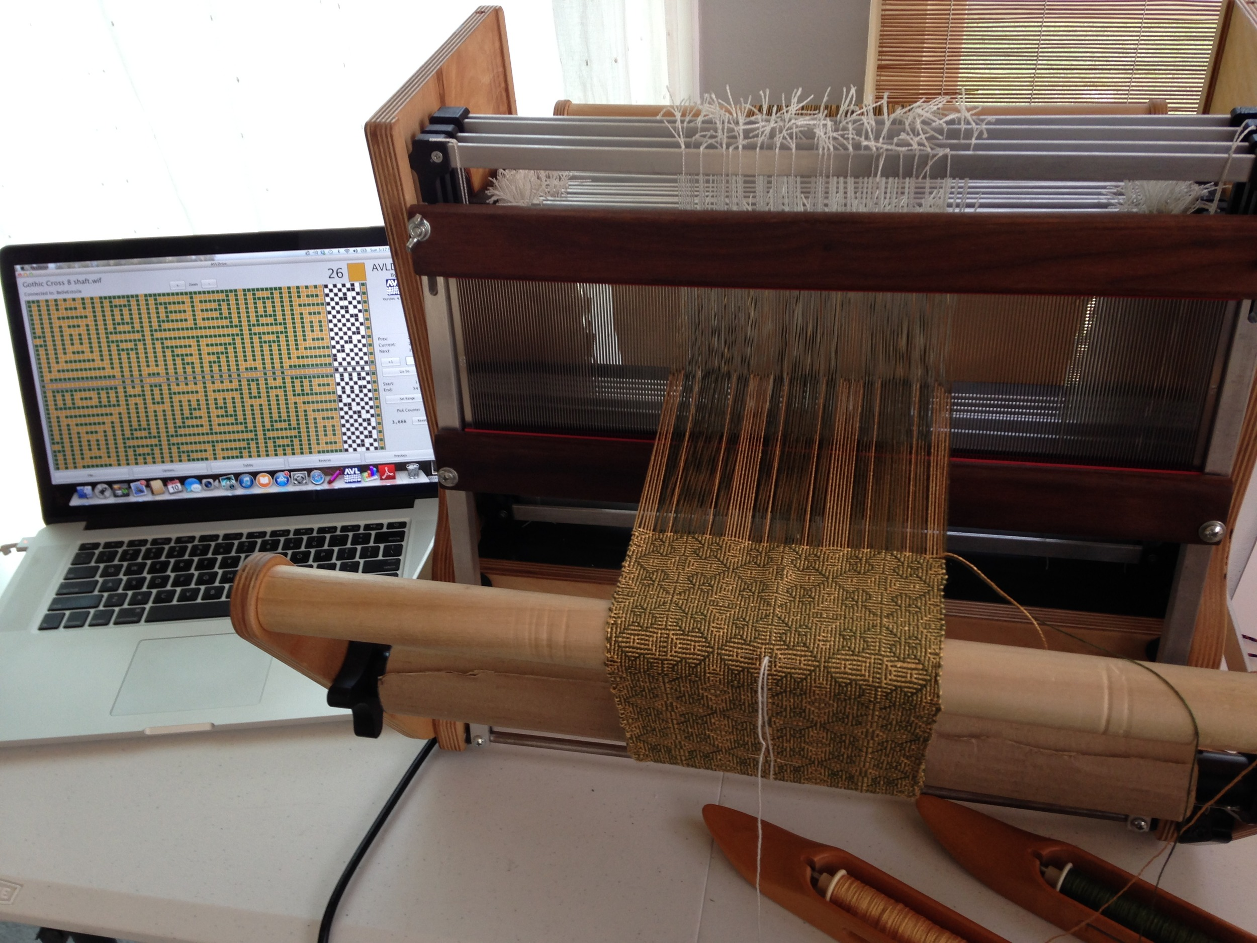 First world weaving in process