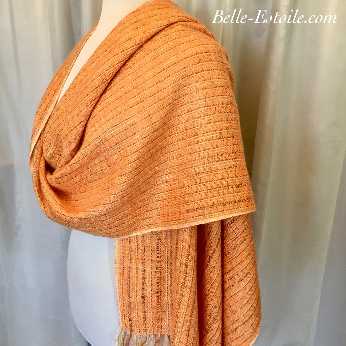 Orange Colored Sky Shawl