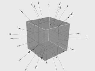 Cube map 6x1   (image from Chaos Group):   The cube map is generated by first rendering the scene from a viewpoint with the views defined by a 90 degree field of view representing each cube face. The six faces of the cube are aligned next to each other in a strip thus the proportion is 6x1.