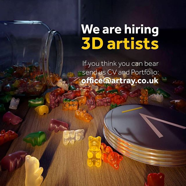 If you think you can BEAR send us a CV and Portfolio! . . . #3dartis #hiring3dartist