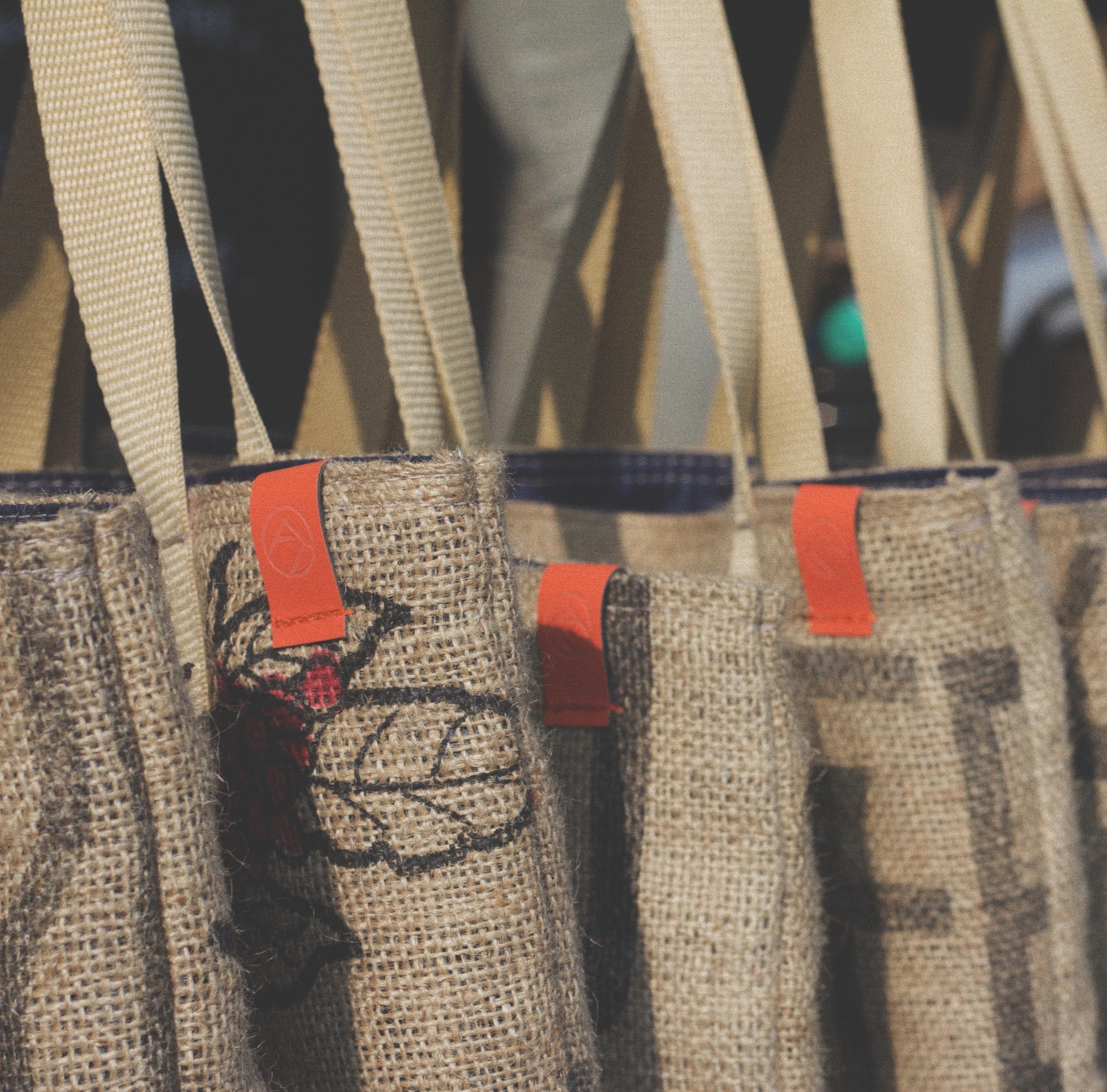 Coffee Tote Bag Label