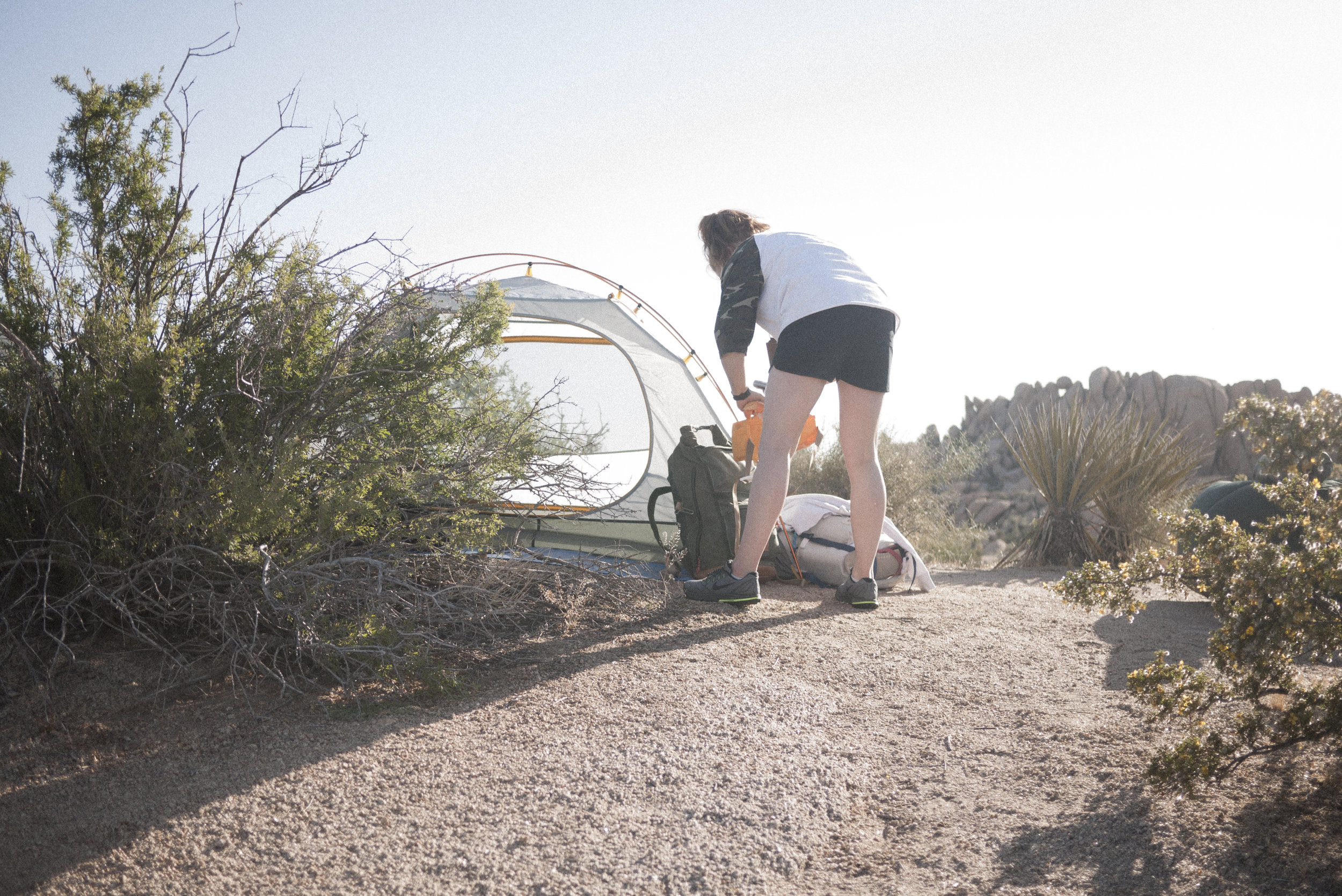 Packing the RV sling and Kit Rucksack for a day of exploring