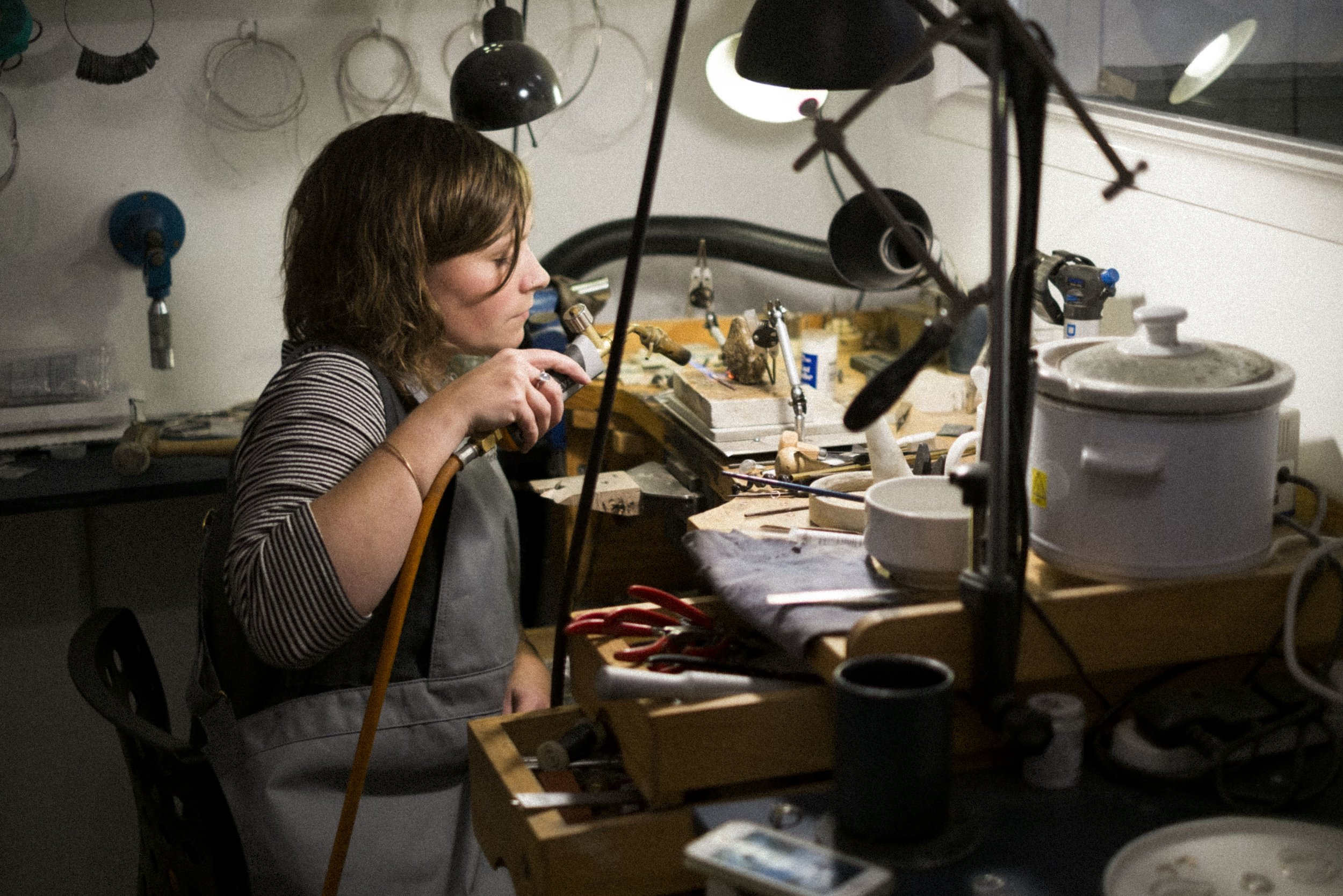 Hannah Batstone Jewellery Bench