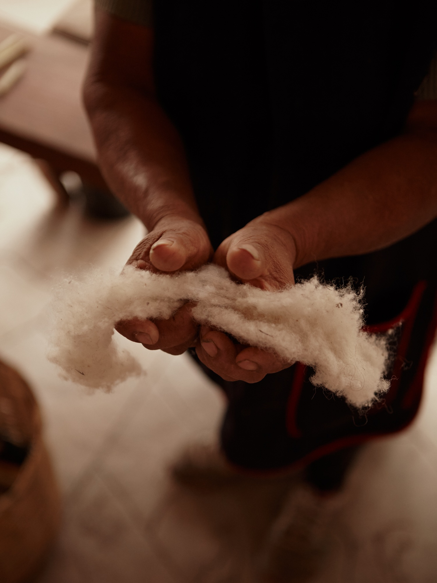 The family use natural 'criollo' native wool for all their products