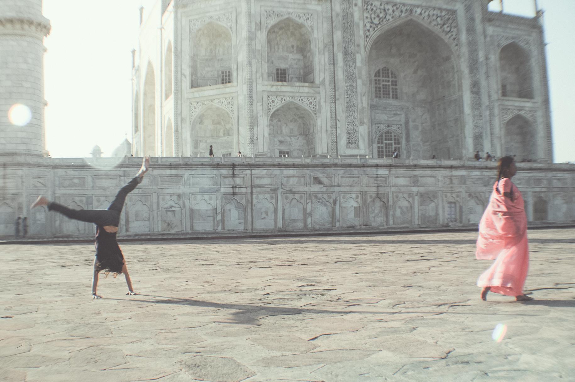 Taj Mahal and Caroline.