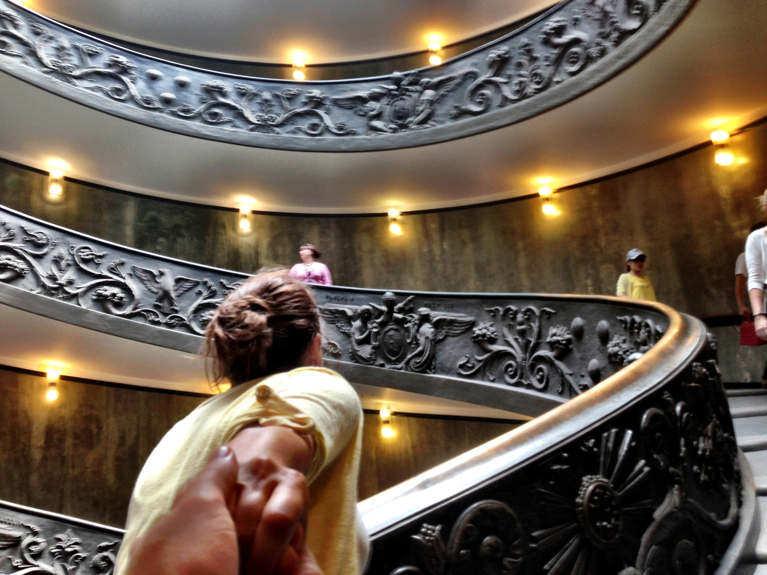 Spiral stairs of the Vatican Museums, designed by Giuseppe Momo in 1932.