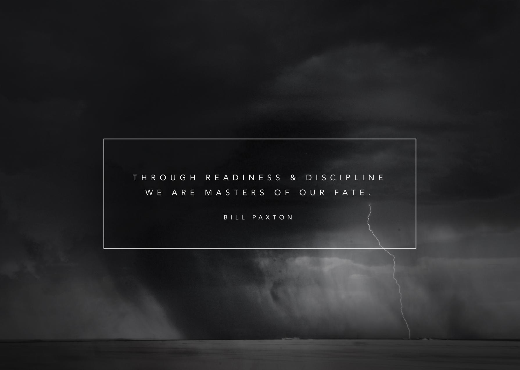 Readiness & Discipline by Bill Paxton | Design by Stephanie Mill | www.stephaniemill.com
