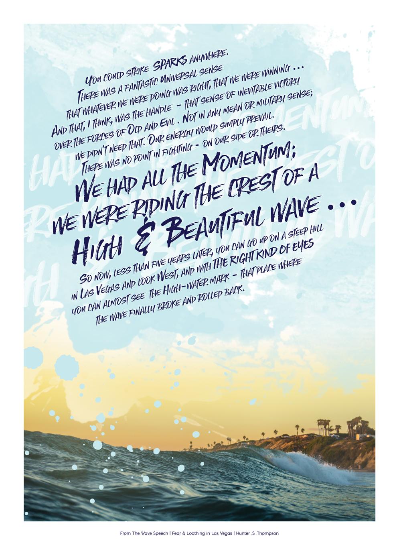 The Wave Speech | Design by Stephanie Mill | ww.stephaniemill.com