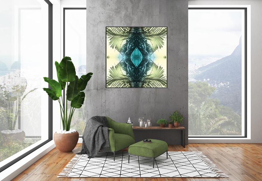 Green Palms 1 | Giclee Print by Stephanie Mill Artist | ww.stephaniemill.com | web.jpg