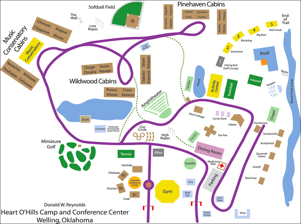 Click to enlarge.       Download printable Camp HOH map