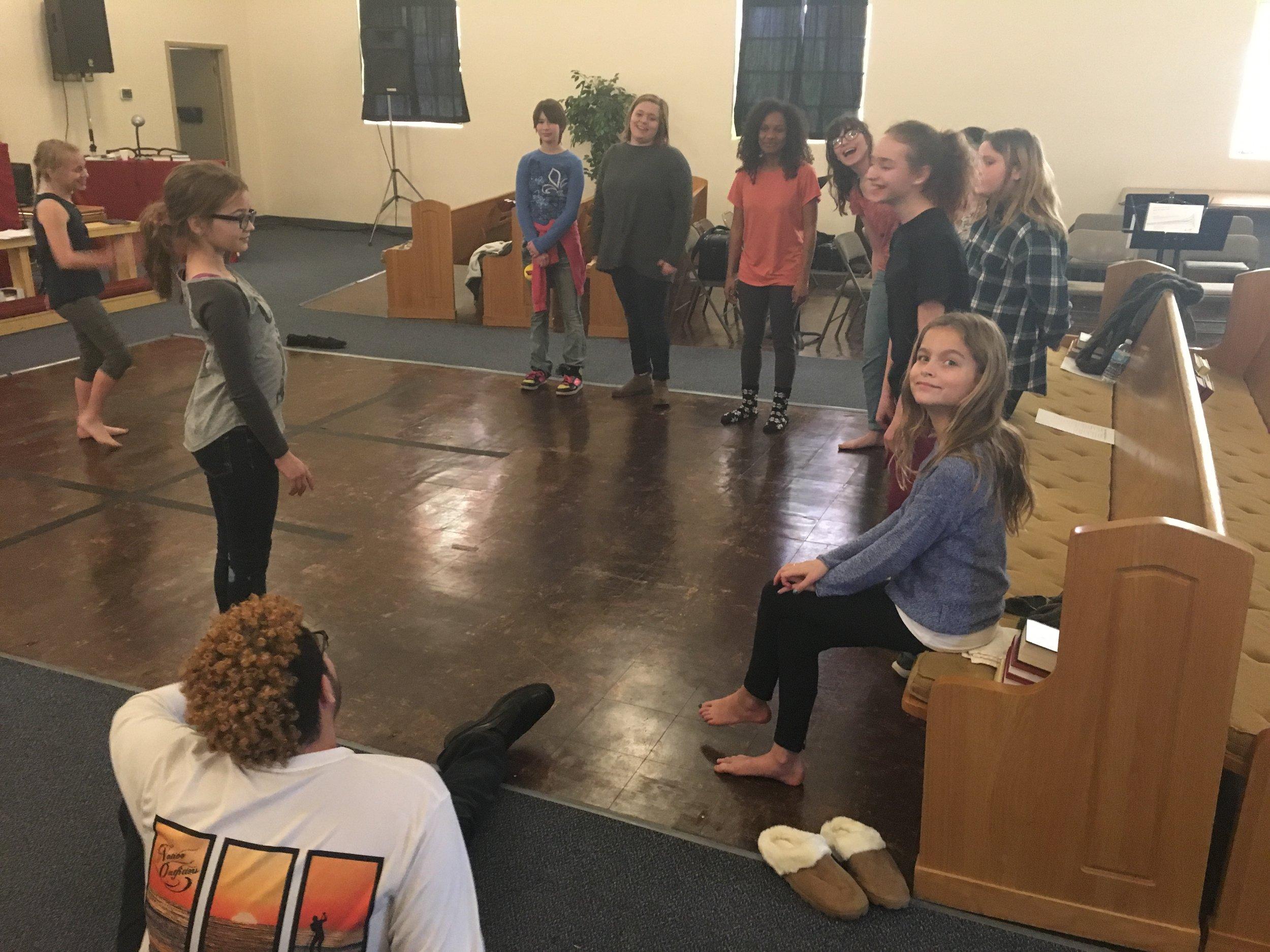 Tamber Walls teaching dance!