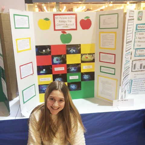 Science Fair participant Kara Nelson: An Apple a Day Keeps the Germs Away?