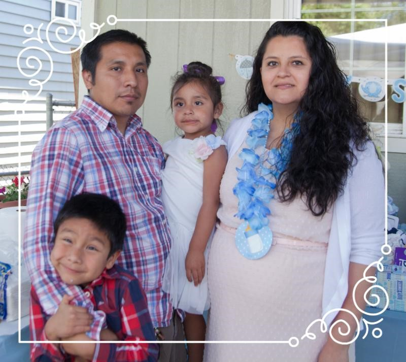 Claudia with her family: husband Filemon, and children Emmanuel and Isabella.