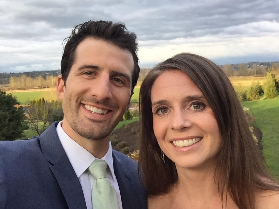 Chris with wife, Jennifer