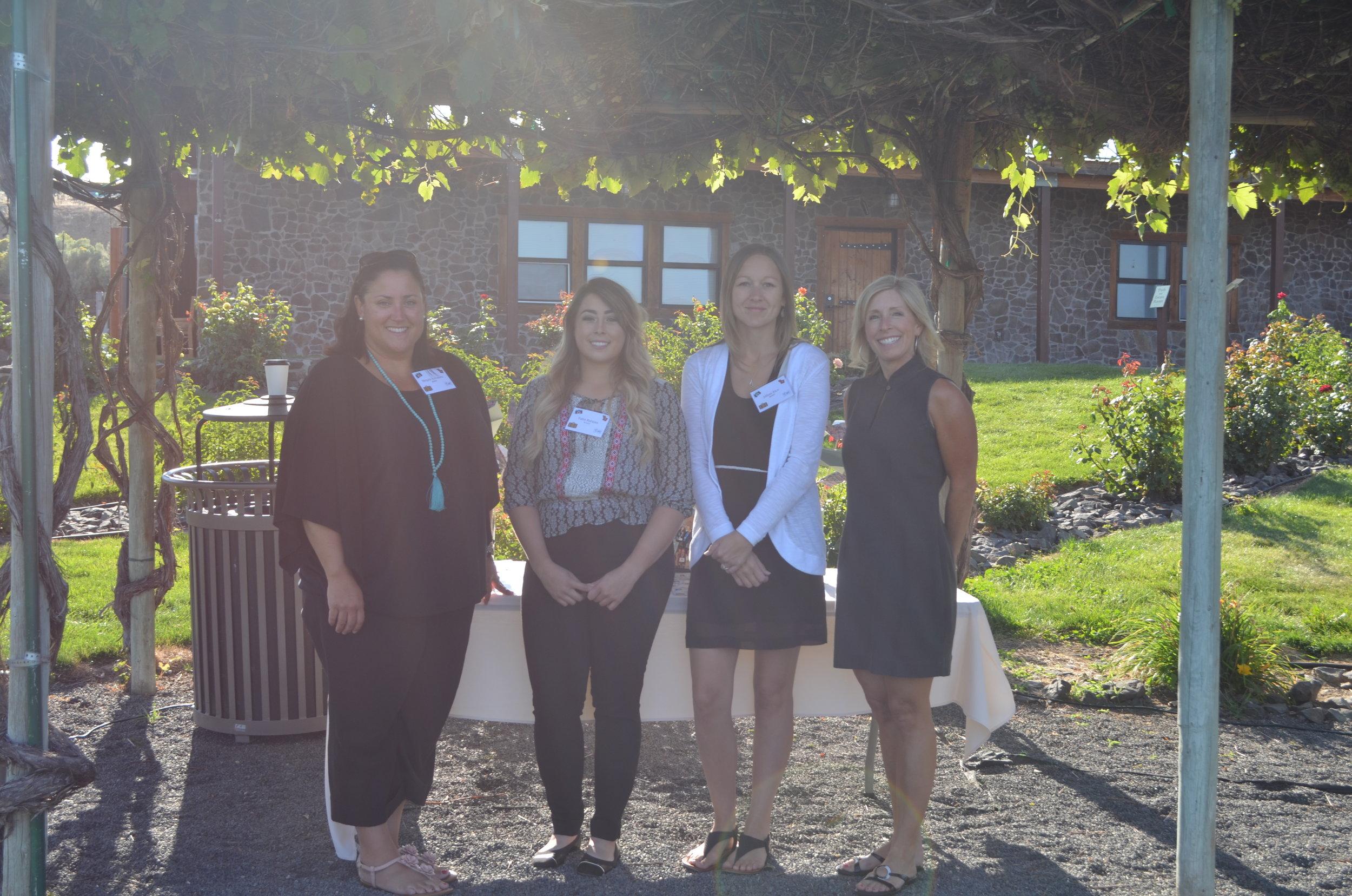 WAEF staff left to right Megan Kovanen, Talia Barajas, Jillian Rice and Jennifer Witherbee