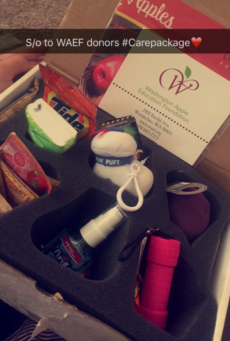"""""""Shout out to WAEF donors #carepackage"""""""