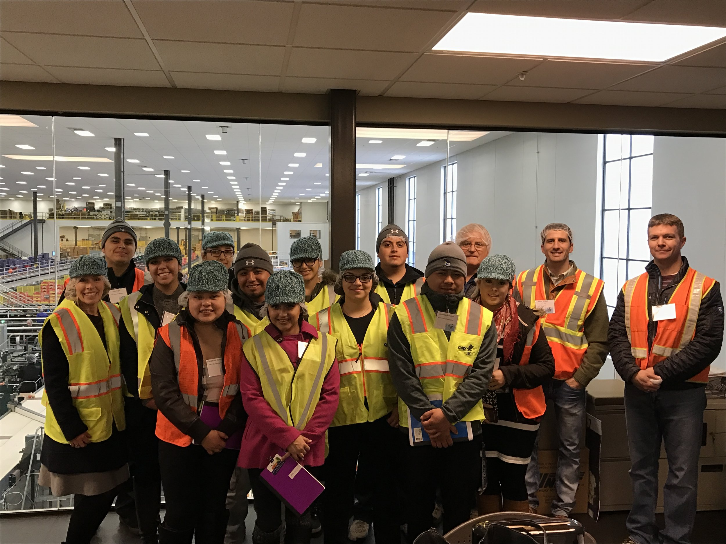 The Wenatchee group touring with Stuart and Byron McDougall at the newest McDougall & Sons facility.