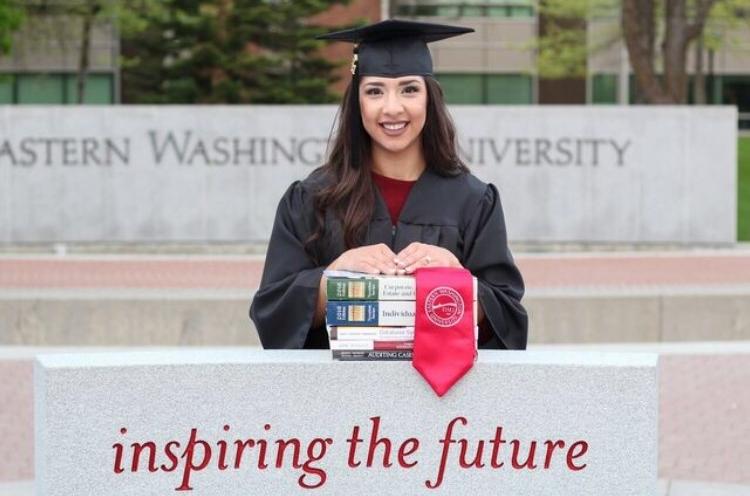 Maria Anaya (Suarez), Eastern Washington University
