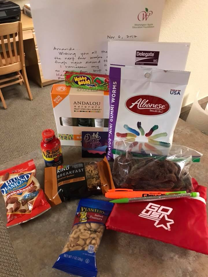 Thank you Dow AgroSciences for this care package! It was a wonderful gift during a busy week of tests and presentations.
