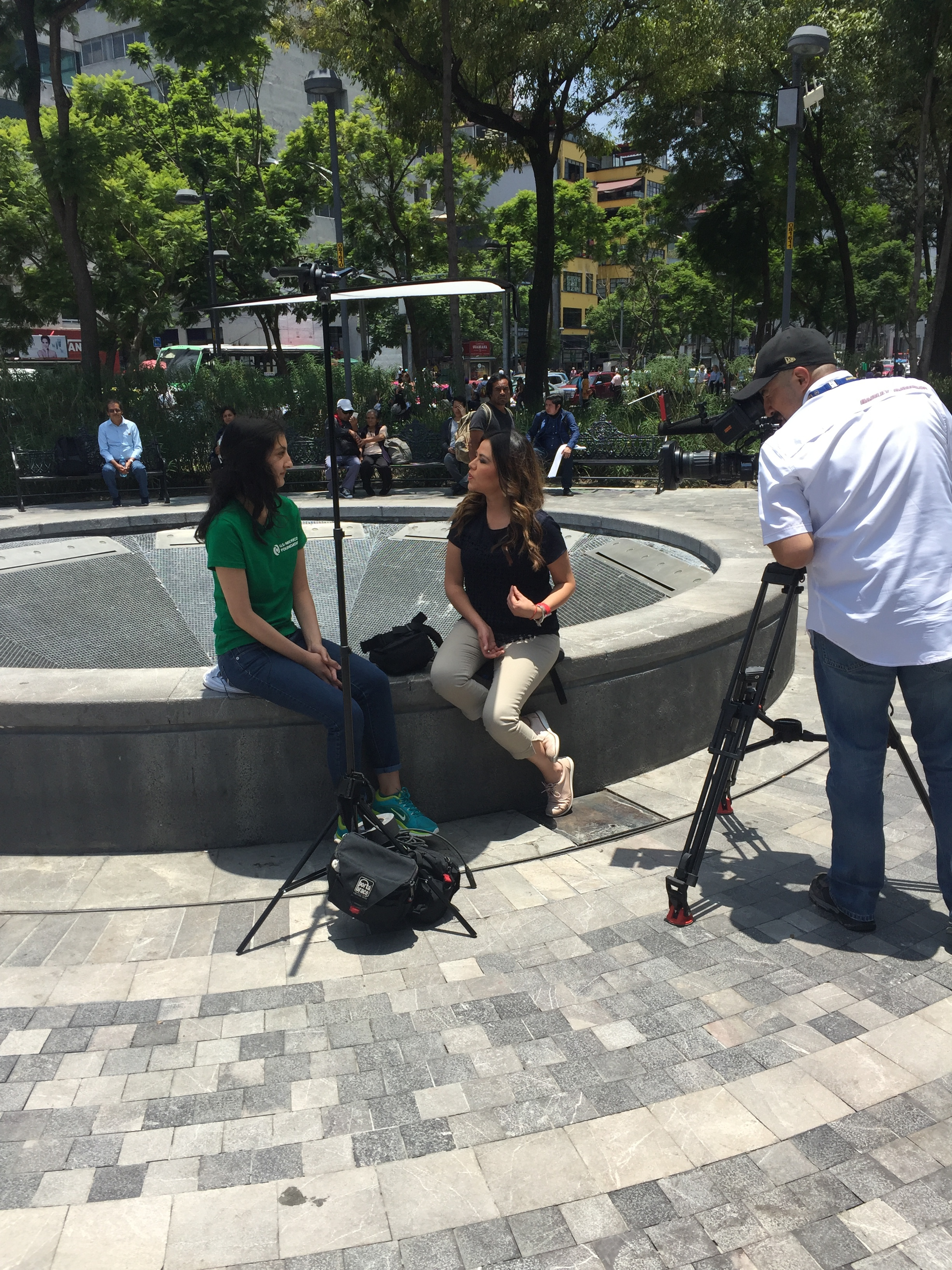 Erika being interviewed in Mexico.JPG