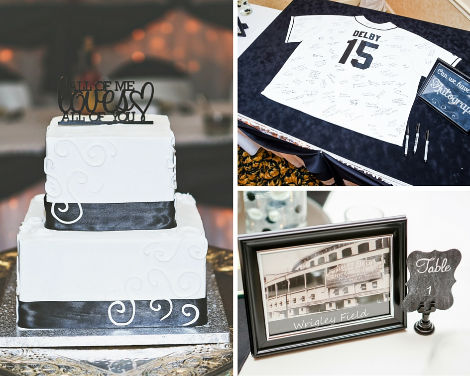 """The wedding cake was from Cakes by Karen from Highland, Indiana. """"They were very fair with their prices and had very delicious cake! They had many flavors to choose from and the cake turned out just as I had imagined! Perfect!"""""""