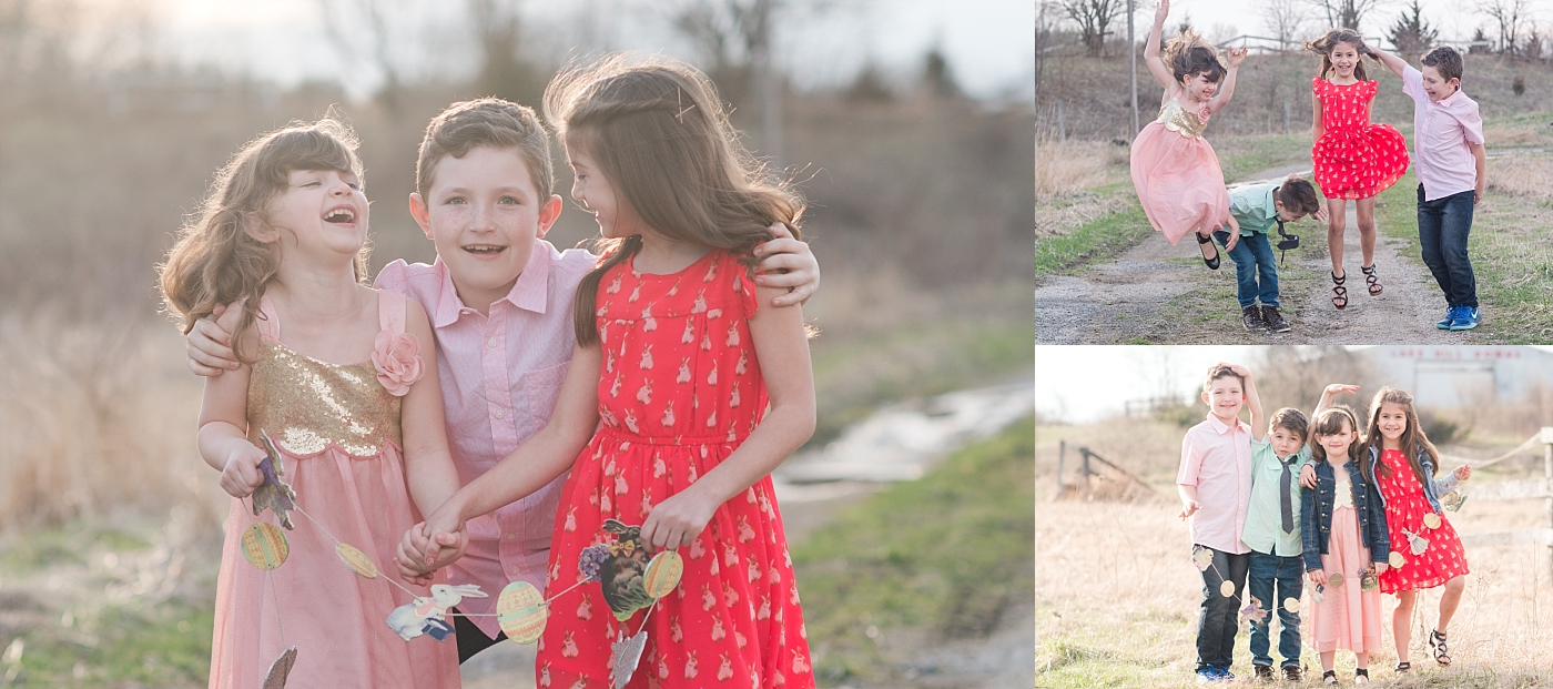 We had fun during our quick Easter shoot. It was actually pretty cold that day!