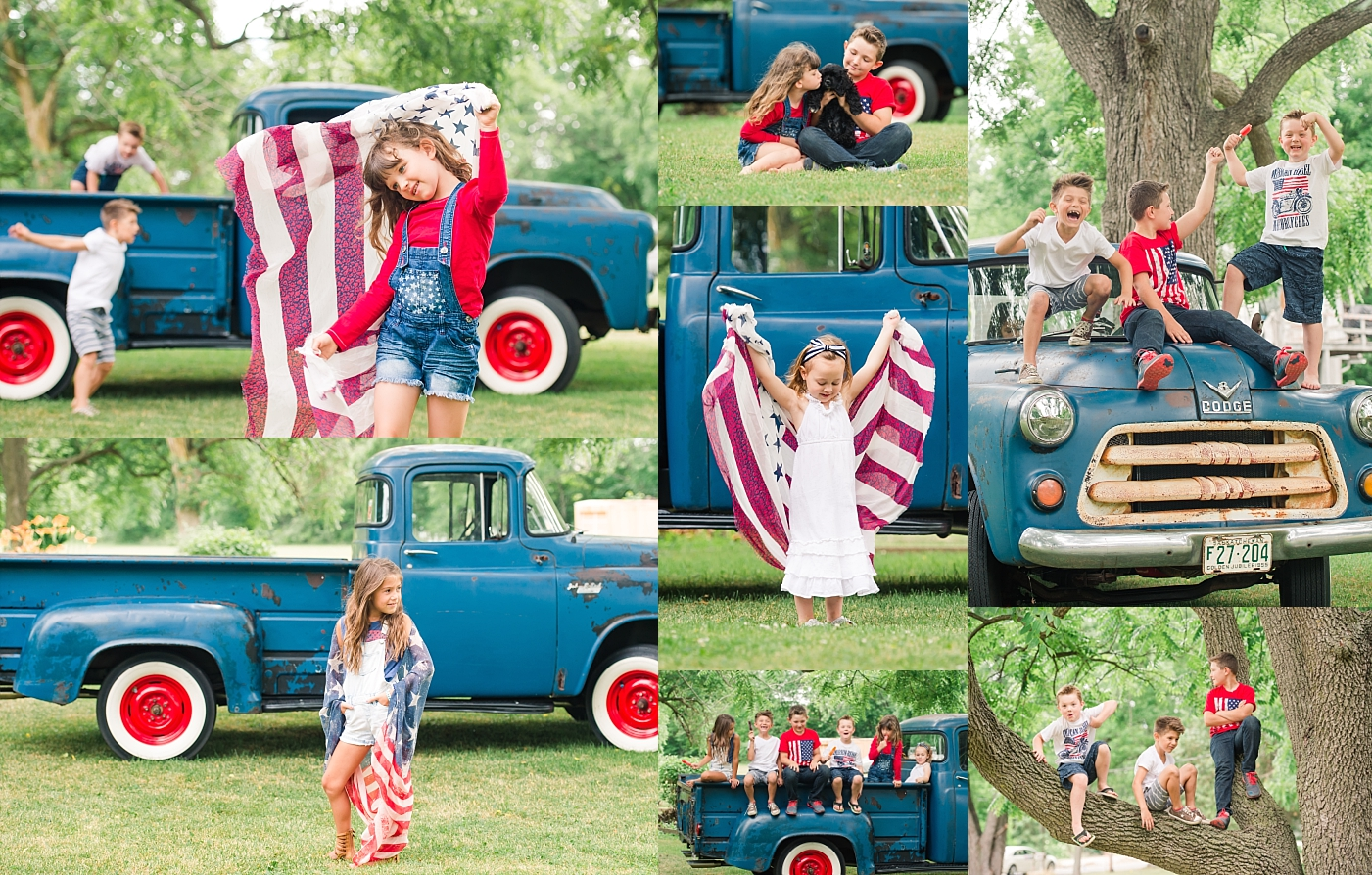 Fun play date and photo shoot with our children for the 4th of July. This time Charlyn's kids joined the party!