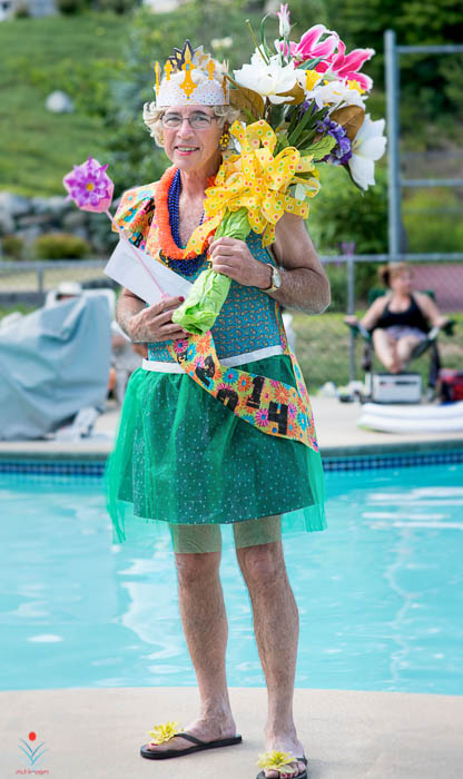 Tropical Pool Party Drag Queen
