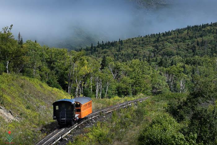 Mount Washington Cog Railway - Engine 1993 Ascending