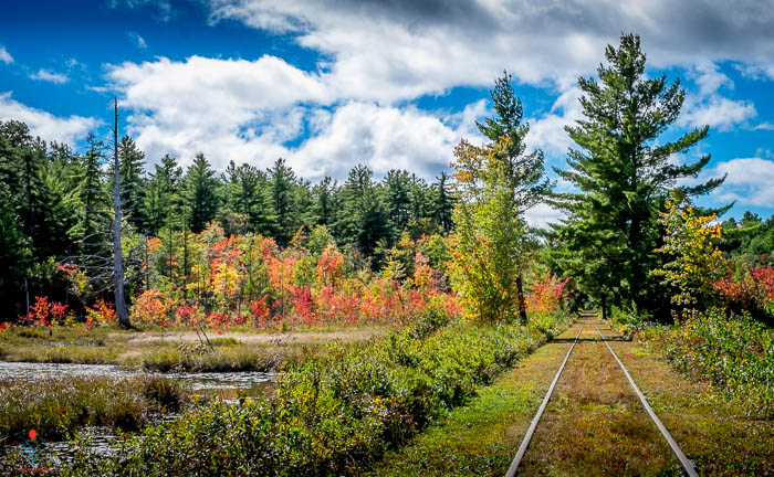 Southbound on the Silver Lake RR as Autumn Arrives