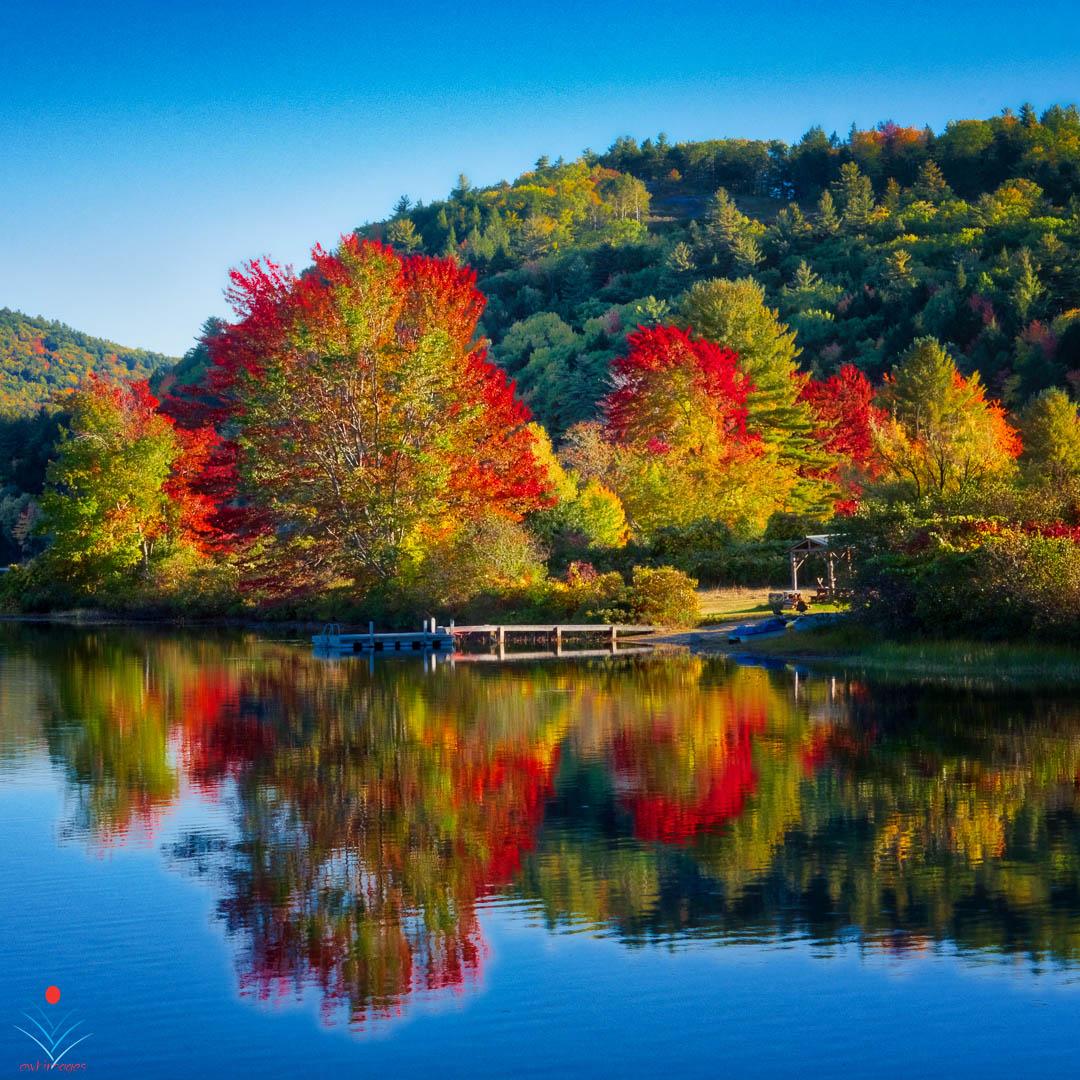 Fall Foliage on Crystal Lake in Eaton.jpg