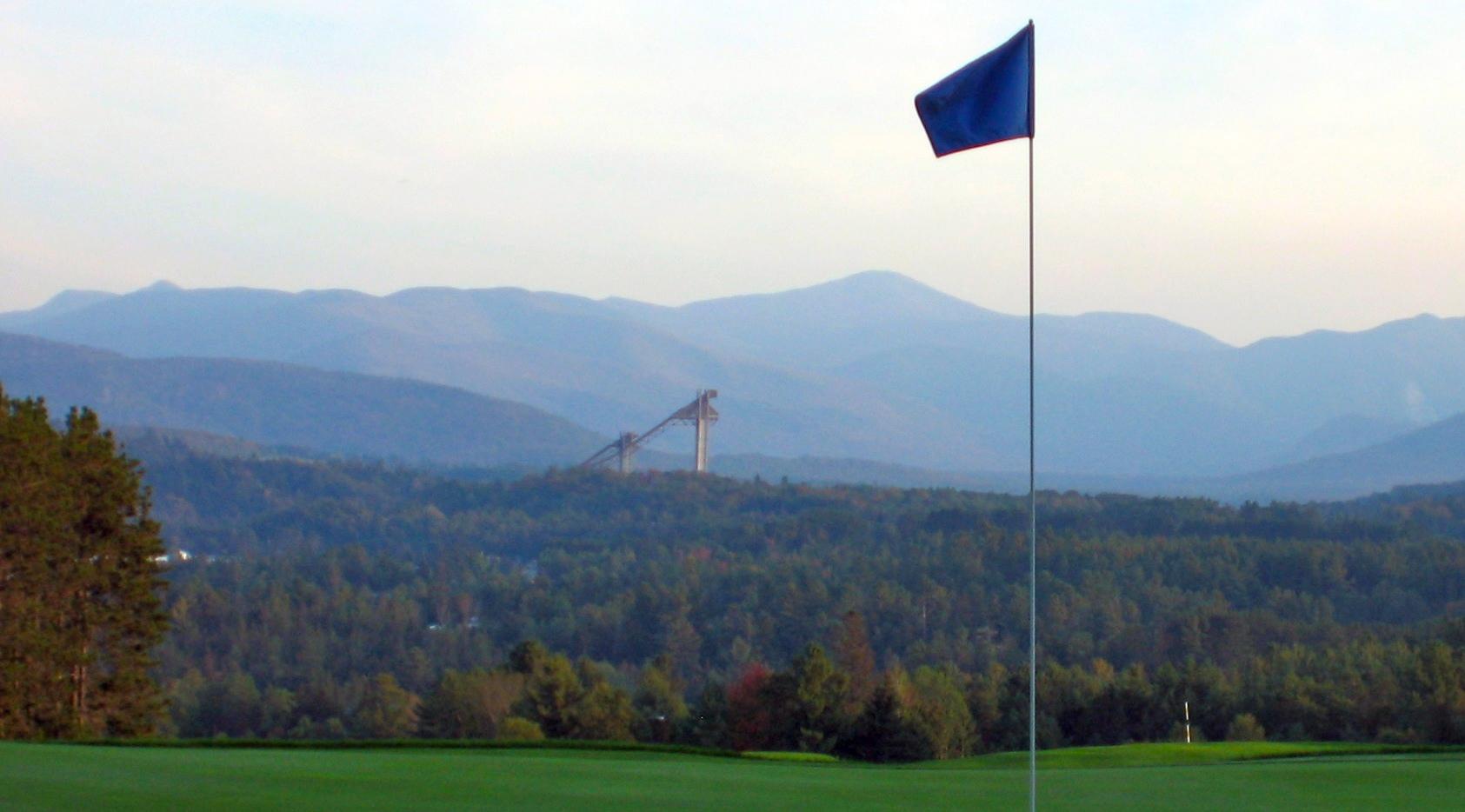 Golf course towards Olympic ski Jumps