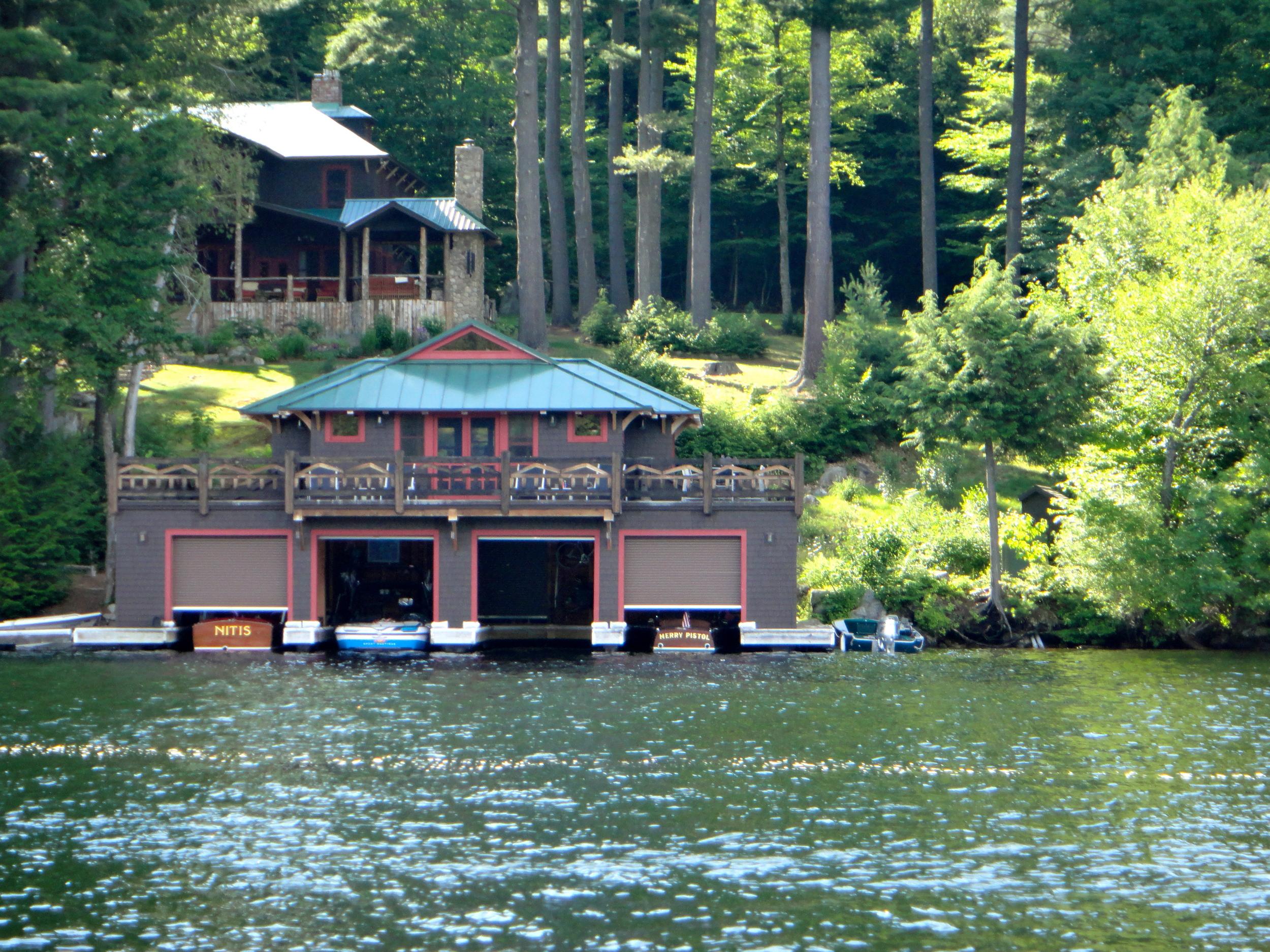Boathouse on East Lake Lake Placid