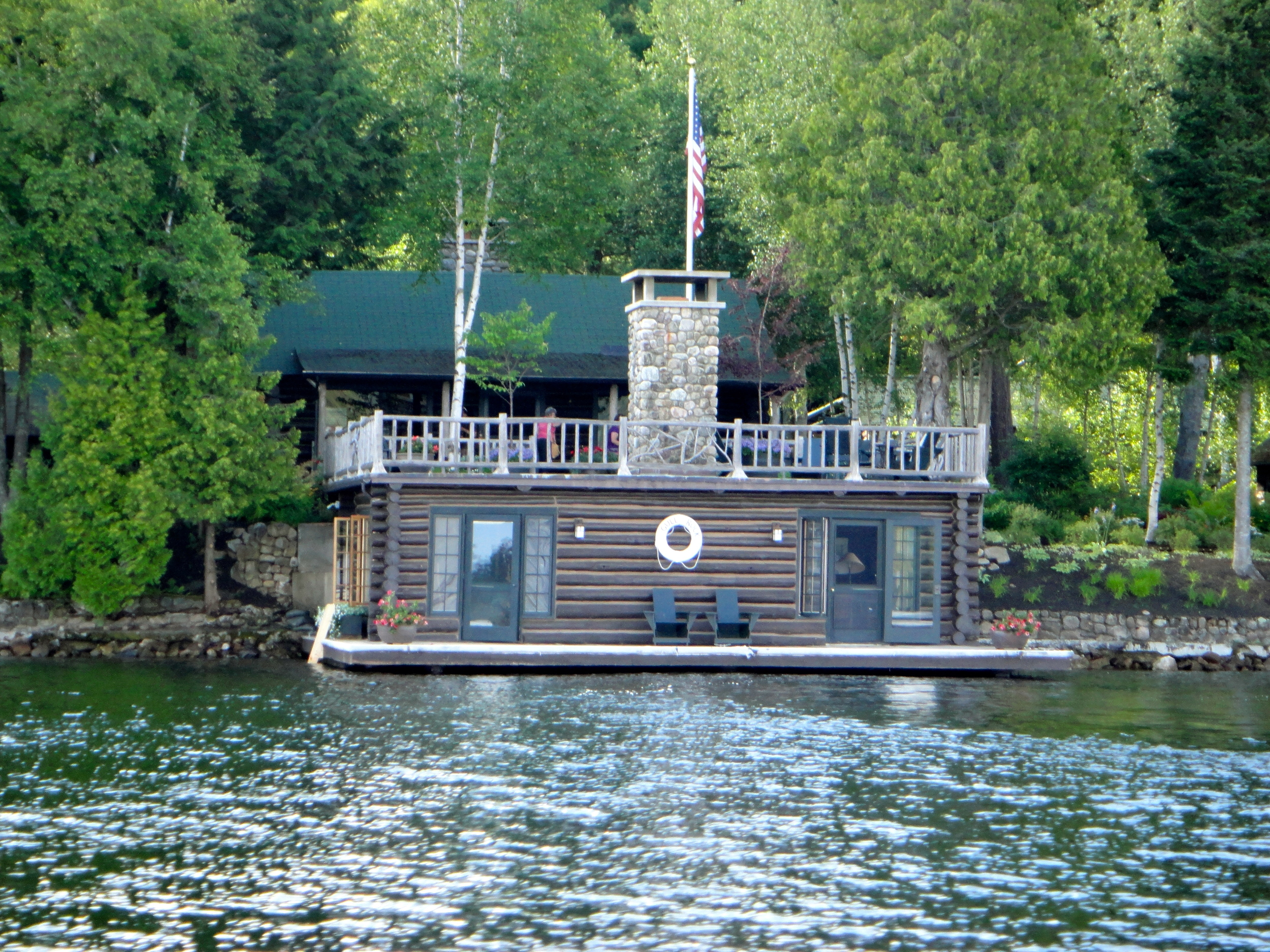Lovely boathouse on Lake Placid
