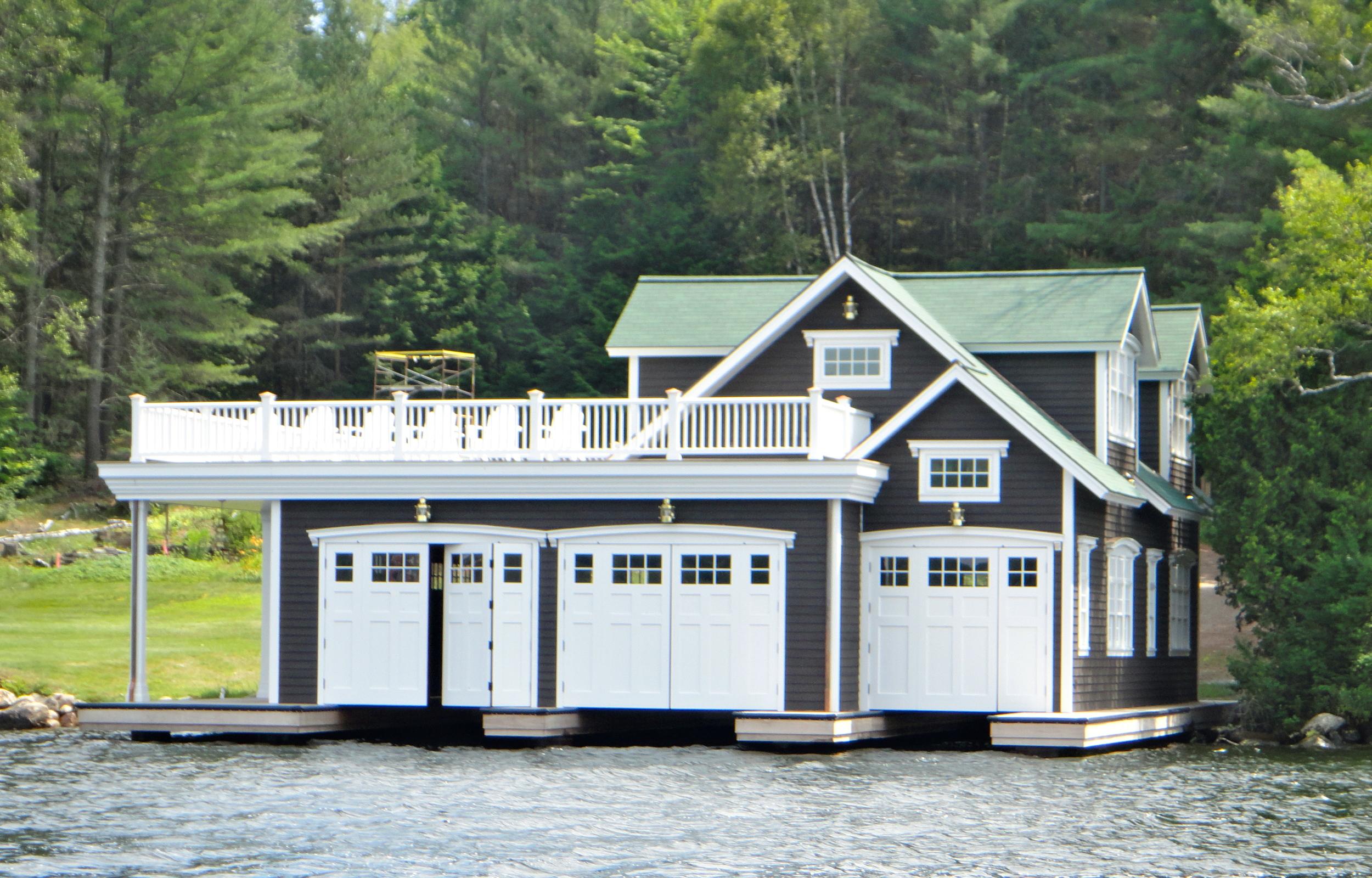 Typical boathouse on Lake Placid