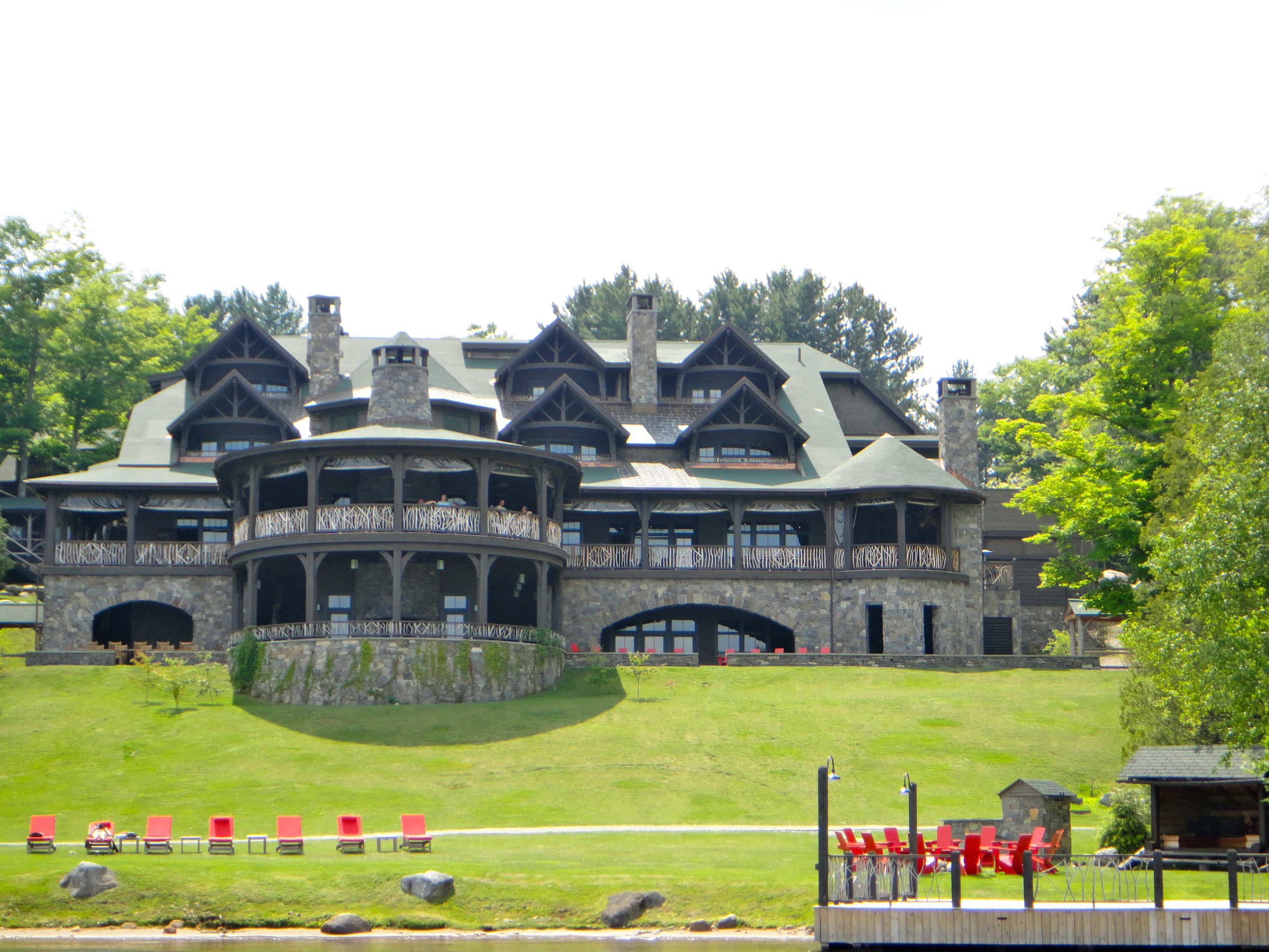 Front view of Lake Placid Lodge