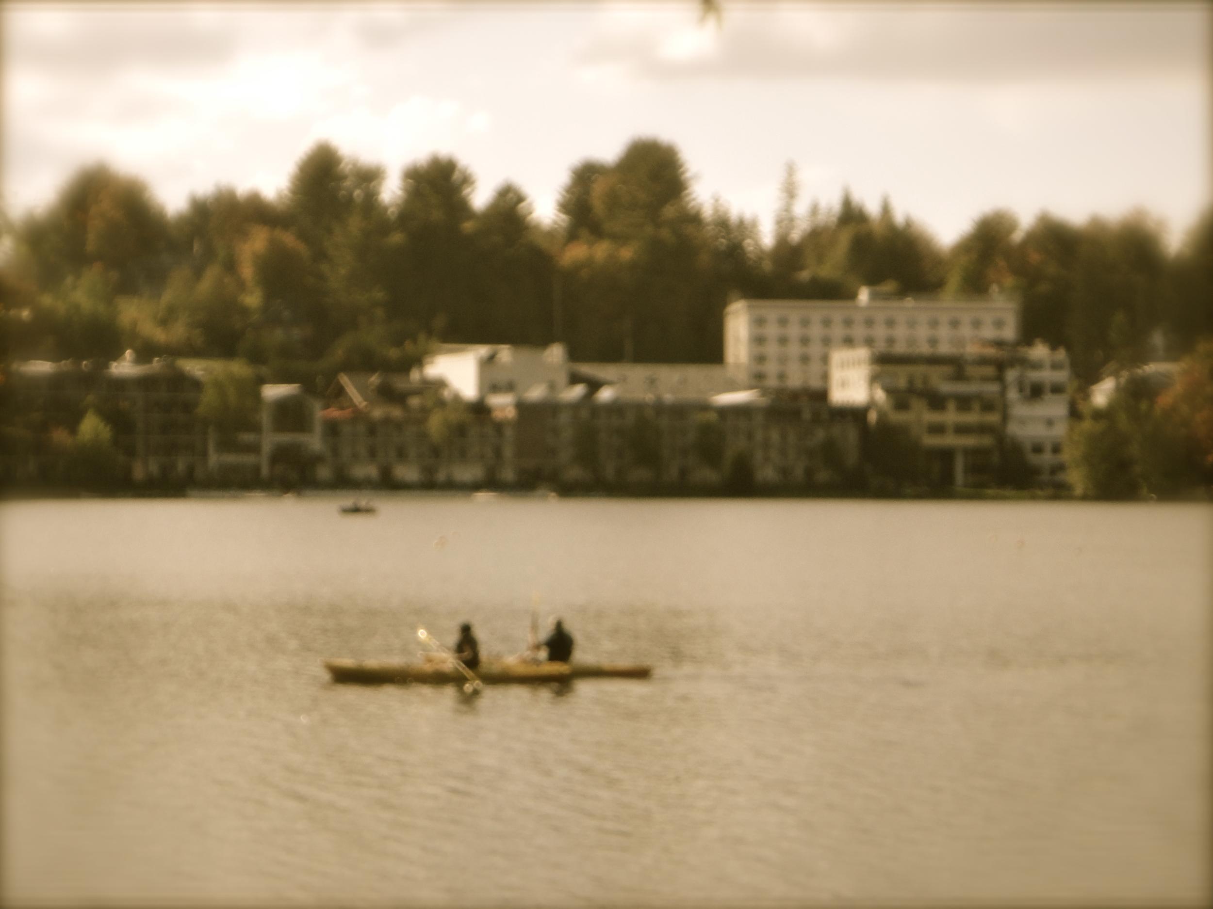 Canoeists on Mirror Lake