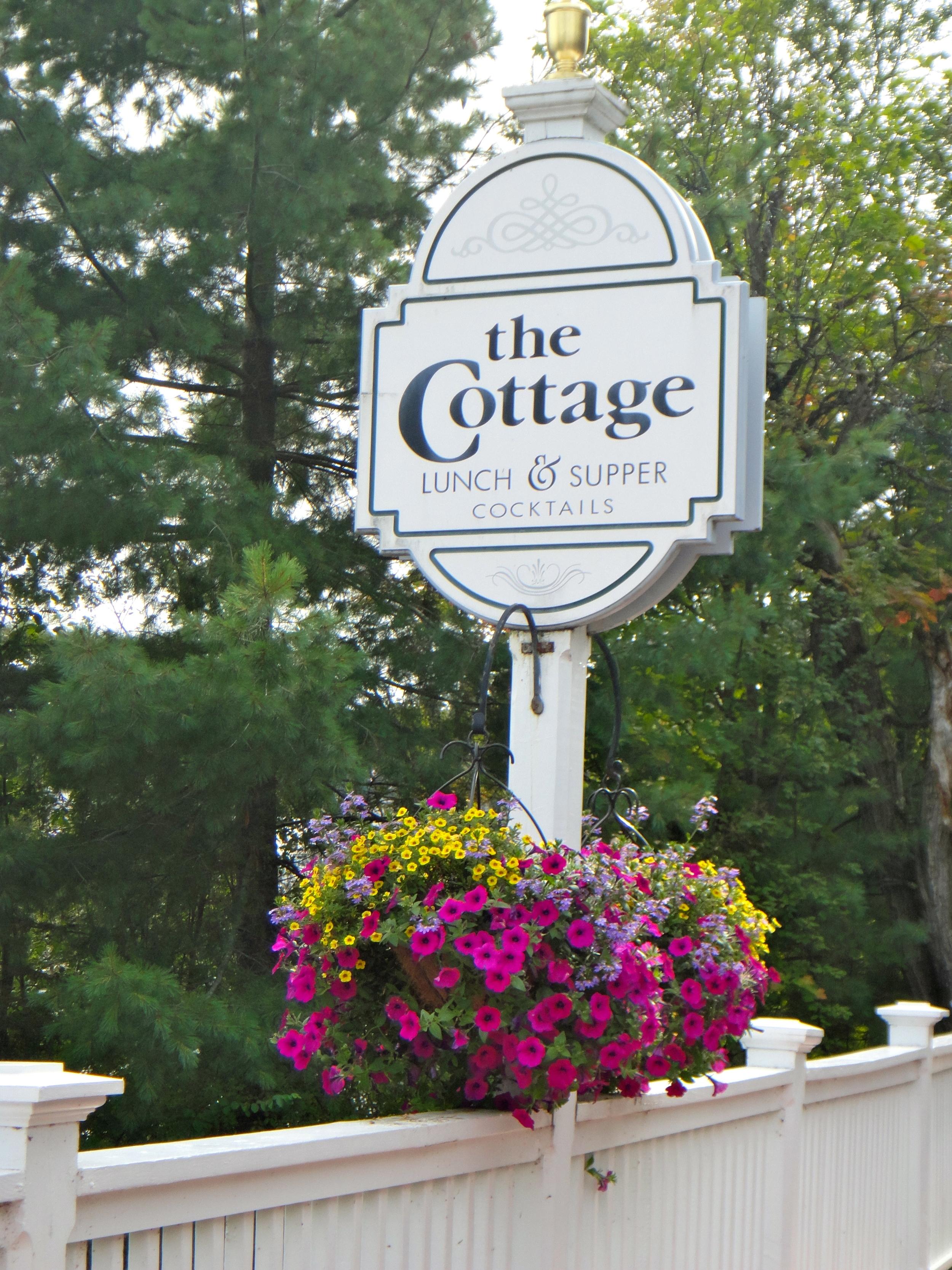 The Cottage signage