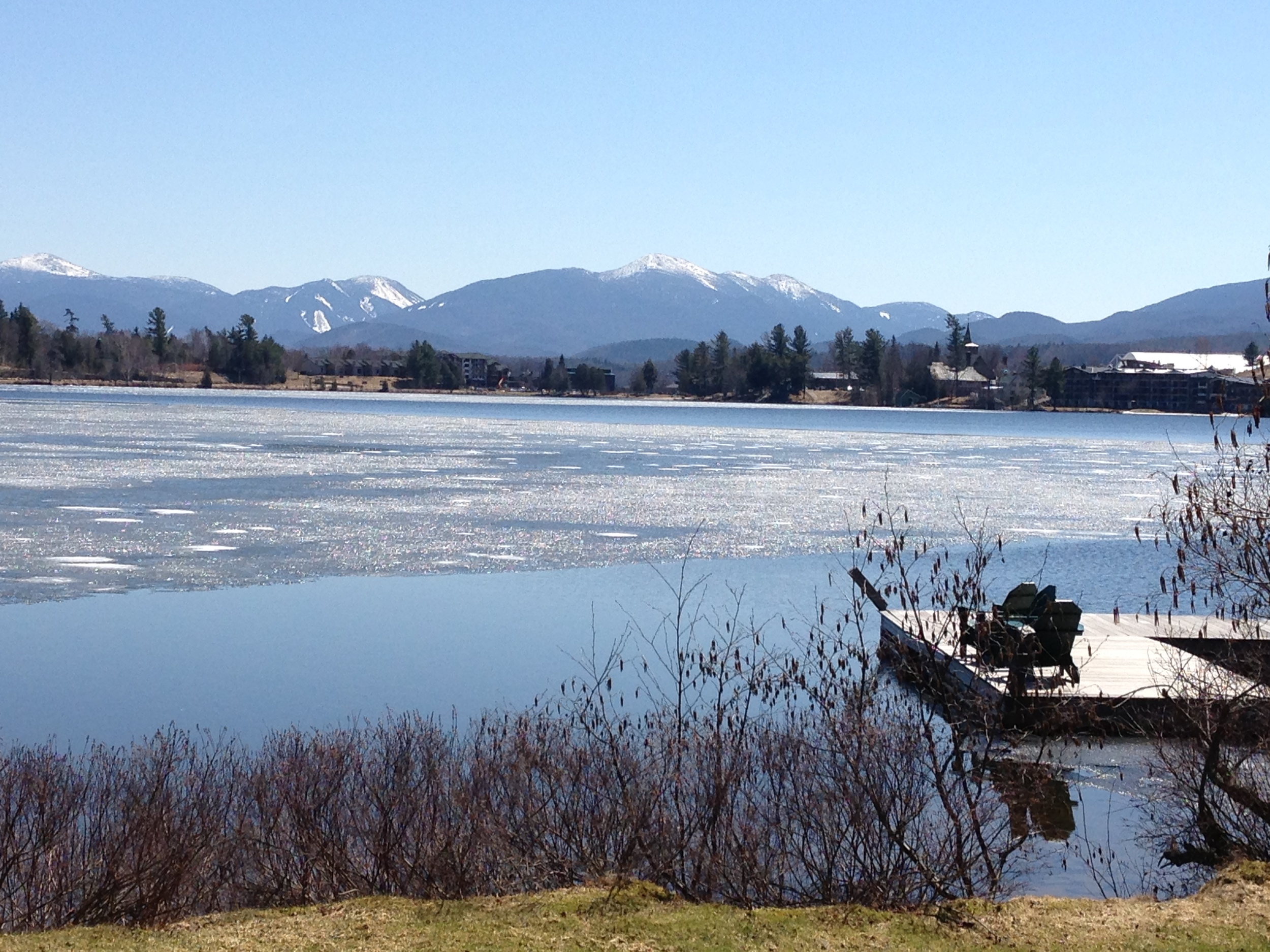 Ice out on Mirror Lake