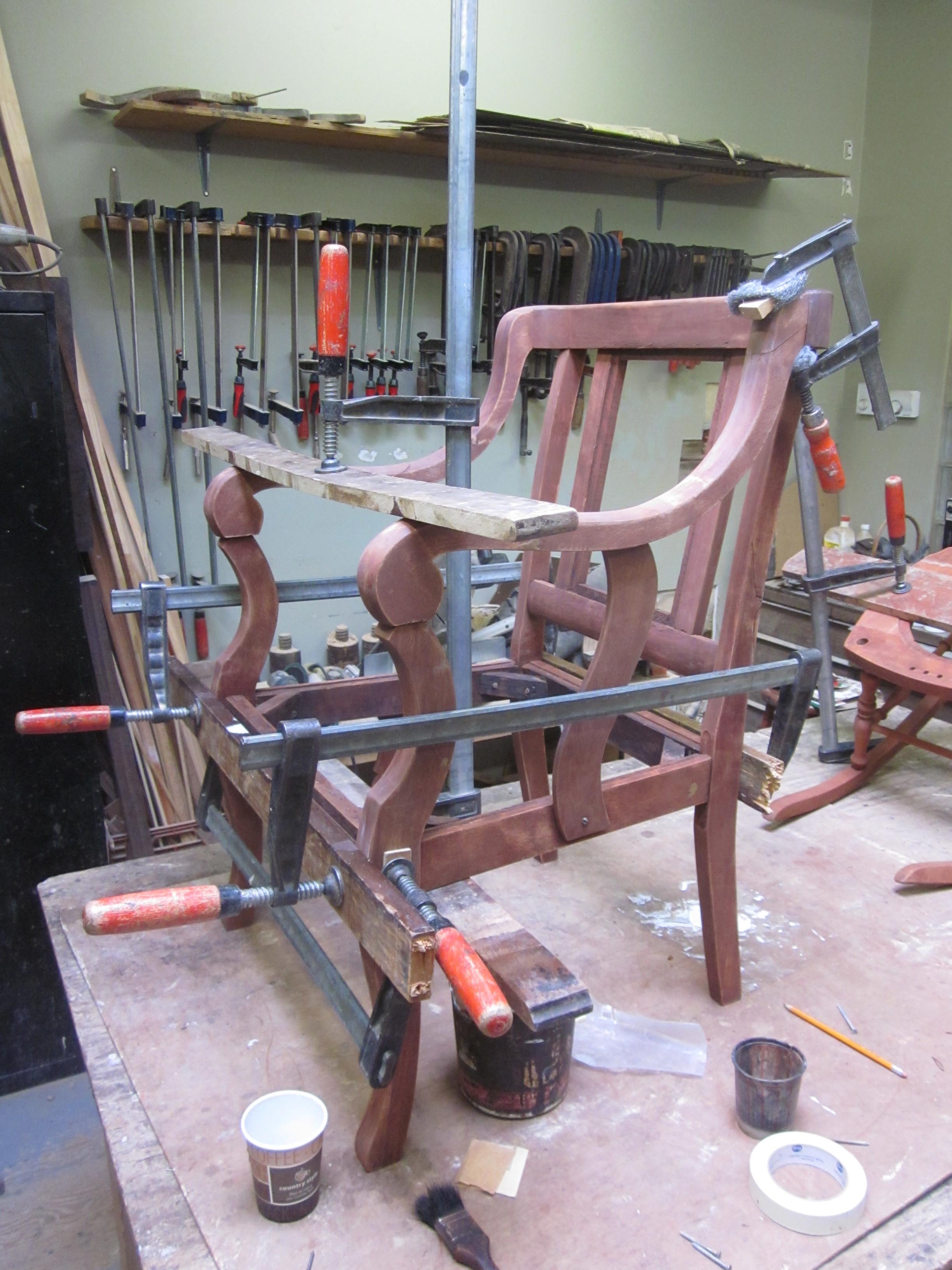chair repair(re-glue)